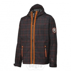 BRUSSEL Check Jacket 999 Black. rutem�